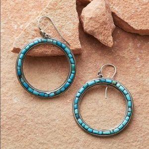 Sundance Spectrum Turquoise Hoop Earrings